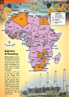 African Industry Photo Illustrated Map