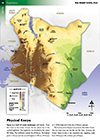 Kenya Physical Map