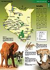 Kenya Animals Wildlife Map