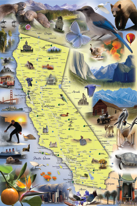 Illustrated Map of California